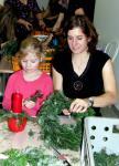 Výstava a výroba adventních věnců